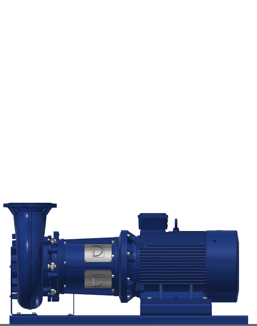 Horizontal wastewater pump