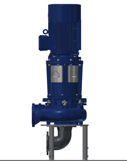 Vertical wastewater pump